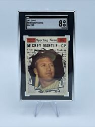 1961 Topps Mickey Mantle All Star High #578 SGC 8 NM MT $1395.00