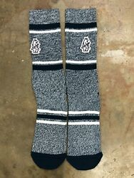 Chicago Cubs MLB Mens Large Socks Fits 6 12 PKWY Cooperstown Stripe Crew Blue $11.99