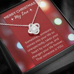 Merry Christmas For My Love Necklace Anniversary Gift for Her $39.95