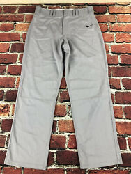 Nike 34x32 MENS large Lights Out Baseball Pants GRAY Solid full length straight