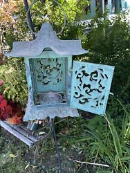 Retired Partylite Ivy Leaf Pagoda Hanging Lantern for Patio or Garden $50.00