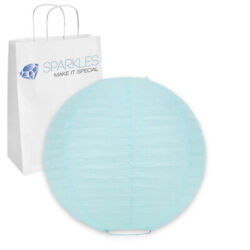 25 pcs 6quot; inch Chinese Paper Lantern Light Blue Wedding Party Event bw $17.99