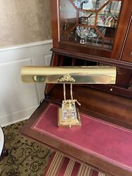 Brass and Crystal Antique Bankers Lamp $200.00
