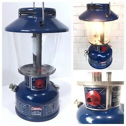 RARE Coleman Lantern BLUE 621A 550CP date 1 75 Tapered Globe 621 Vintage Camping $242.00