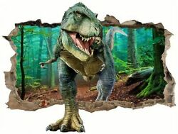 3d Wall Decals Dinosaur Wall Stickers Broken 3d Decorative Wall Decals Removable $18.80