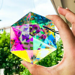 100MM Chandelier Prisms Hanging Hexagram Crystal Home Room Gift Party Decor $12.35