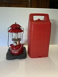 COLEMAN 200A RED LANTERN With Hard Case 6 66 $225.00
