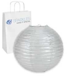 10 pcs 8quot; inch Chinese Paper Lantern Silver Wedding Party Event vz $10.49