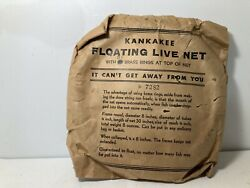 NEW SEALED Vintage Fishing Live Bait Net Cage Collapsible Fish $9.99