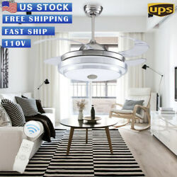 42quot; Invisible Ceiling Fan Light Dining Room Chandelier Lamp W Remote Control USA $115.99