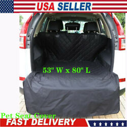 Luxury Pet SUV Cargo Cover Liner For Dogs Black Quilted Waterproof 53quot; W x 80quot; L $26.59