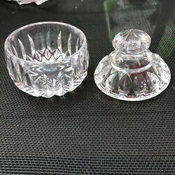 Vintage Crystal Clear Gotham quot;Altheaquot; Sugar Bowl with lid. *beautiful* $30.00
