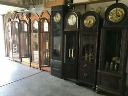 Lot of 10 antique vintage floor tall case grandfather clock $6000.00