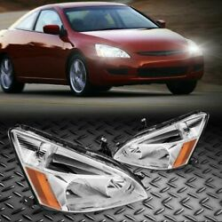 Headlights Head Lamps LeftRight For 2003 2007 Honda Accord Assembly Clear Lens $85.24