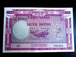 VIETNAM 1955 10 MUOI DONG P 3a CHOICE UNC. MAY HAVE A DIFFERENT PREFIX # $19.95