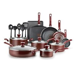T fal Easy Care Nonstick Cookware 20 piece Set Red $79.99
