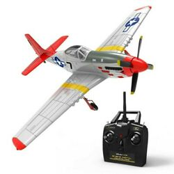 RC Airplane P 51 MUSTANG 4 Channel Electric Military Plane Gyro RTF 29quot; $139.99