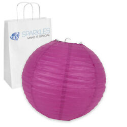 12 pcs 8quot; inch Chinese Paper Lantern Fuchsia Wedding Party Event bs $12.49
