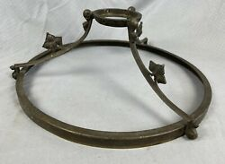 """Antique Bronze Brass Lamp Shade Or Base Ring 12"""" Fitter $49.99"""