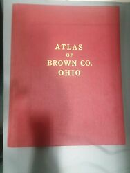 Atlas of Brown Co. Ohio Georgetown Ripley Ohio Grant #191 Red Cover 14quot; x 11quot; $49.95