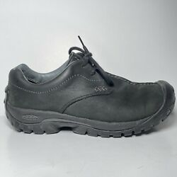 KEEN XT 0605 Black Leather Casual Outdoor Hiking Women#x27;s Size 8.5 Boots Shoes $49.69