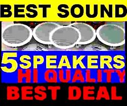 5 PACK CEILING IN WALL 8quot; HI QUALITY SPEAKERS $210.49