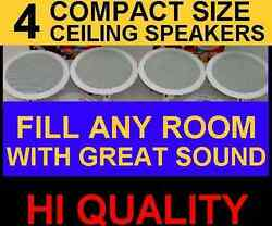 4 PACK CEILING IN WALL 6.5quot; HI QUALITY SPEAKERS GREAT STEREO SOUND 4x $144.00