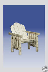 Log Patio Chairs Wood Rustic Lodge Deck Chair Amish Made Porch Furniture