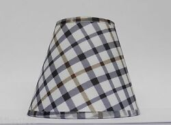 Country Plaid Fabric Chandelier Lamp Shade Multi Color Traditional any room $8.00