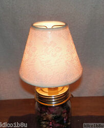OFF WHITE LACE OVERLAY Fabric Chandelier Lamp Shade Traditional any room $7.00
