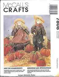 7808 UNCUT McCalls SEWING CRAFT Pattern Halloween Scarecrow Pumpkins 21