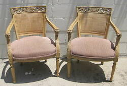 Fine Pair European Hand Carved Figural Arm Chairs    MAGNIFICENT