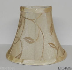 FIVE CREAM LEAF Fabric Chandelier Lamp Shade ivories traditional any room $59.95