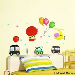 BALLOONS CARS amp; HELICOPTER Kids Removable Wall Sticker for Kids room or Nursery AU $11.65