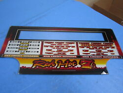 Bally Gaming Red Hot 7#x27;s 2004 9quot; x 9 1 2quot; Slot Machine Glass Design $29.99