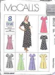 8629 UNCUT Vintage McCalls Pattern 8 Great Looks Misses Dress SEWING OOP NEW SEW