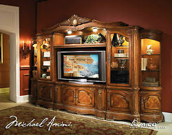 Cortina Traditional Wall Unit Large TV Entertainment Center AICO N65000ENT6-28
