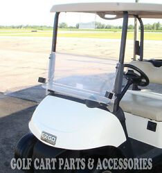 EZGO RXV Clear Windshield 2008-UP Folding Style  *New In Box Golf Cart Part*  $89.00