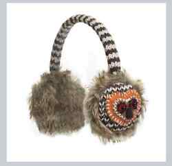 deLux OWL knit ADULT ear muffs EARMUFFS ~Other Styles Hat Mittens Sold Separate
