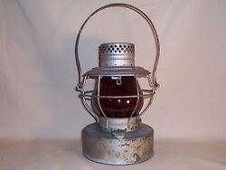 Antique City of Chicago Water Railroad Style Handlan Lantern Ruby Glass Dpt. Co $265.00