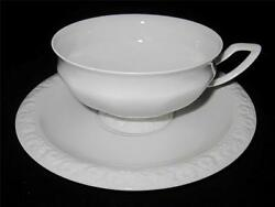 Rosenthal MARIA WHITE Cup 2 1 4quot; X 4 1 8quot; Oversize Footed Cup amp; Saucer Set $12.99
