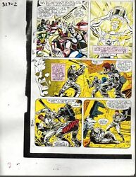 Original 1990 Avengers 327 Marvel Comics color guide art: ThorIron ManShe-Hulk