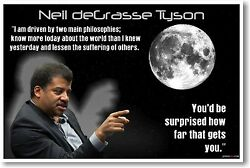 Neil deGrasse Tyson NEW Science Space Physicist Classroom Motivational POSTER $9.99