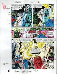 Original Avengers 330 color guide art: She-HulkBlack WidowCaptain AmericaThor