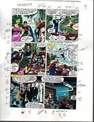 Buscema 1988 Avengers color guide art: ThorBlack KnightShe-HulkCaptain Marvel
