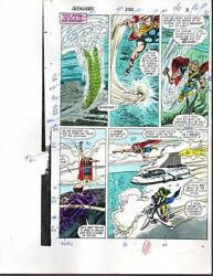 John Buscema 1988 Avengers 292 Marvel color guide comic art page 3:ThorShe-Hulk