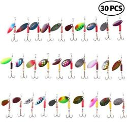 30PCS Fishing Lures Metal Spinner Baits Bass Tackle Crankbait Trout Spoon Trout $14.99