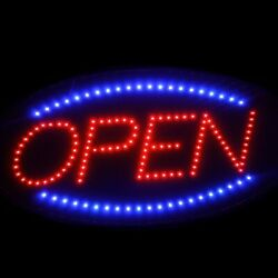 Animated Motion Running LED Business OPEN Sign + OnOff Switch Bright Light Neon