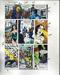1990 Avengers 325 Marvel color guide comic artwork:Captain AmericaThorShe-Hulk