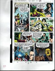 1990 Avengers 327 page 27 Marvel color guide comic art: Captain AmericaShe-Hulk